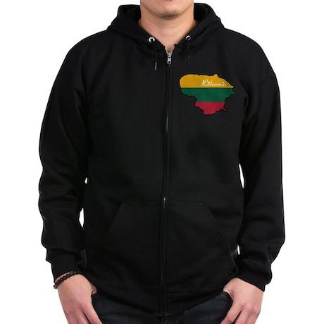 Cool Lithuania Zip Hoodie (dark)