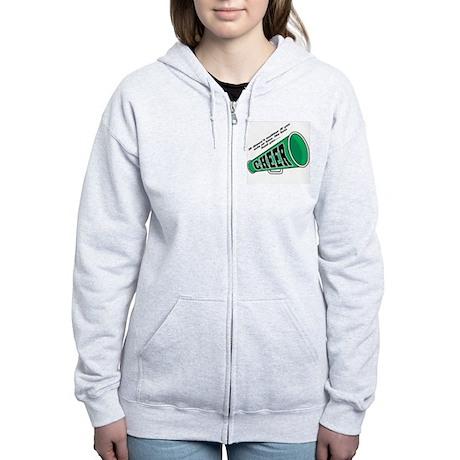 Green Cheer Horn Women's Zip Hoodie
