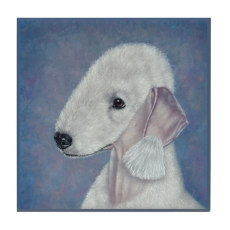 Bedlington (Blue) Tile Coaster