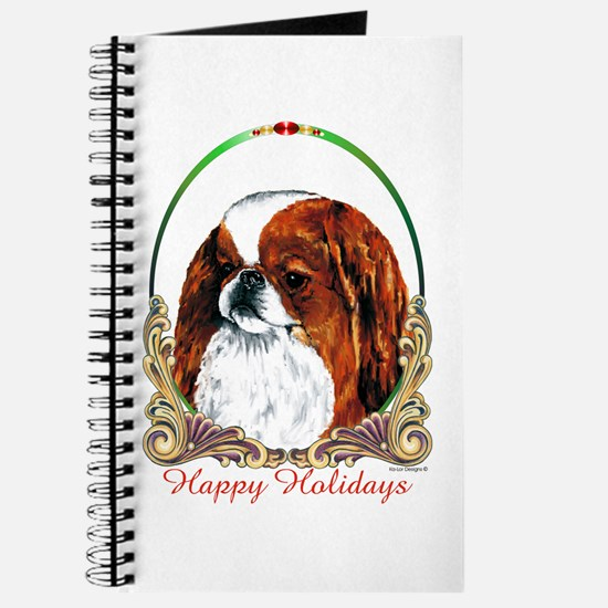 Red Japanese Chin Holiday Journal