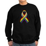 Rainbow Pride Ribbon Sweatshirt (dark)