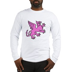 Pink Griffin Long Sleeve T-Shirt