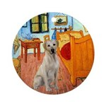Van Gogh's Room & Yellow Lab Ornament (Round)