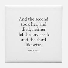 MARK  12:21 Tile Coaster