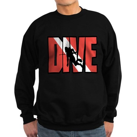 Red Dive Logo Sweatshirt (dark)
