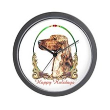 Irish Setter Holiday Wall Clock