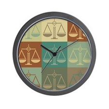Criminal Justice Pop Art Wall Clock