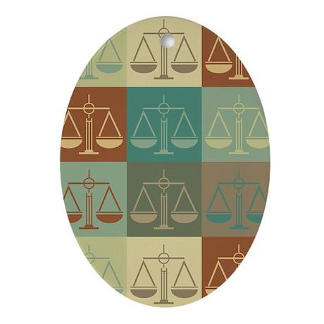 Criminal Justice Pop Art Oval Ornament