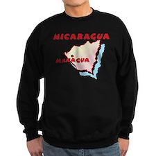 Nicaragua Map Sweatshirt