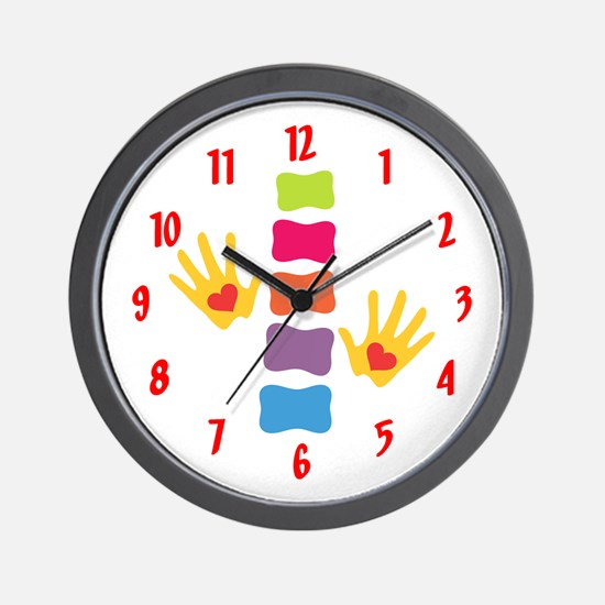 Chiro Hands & Spine Wall Clock
