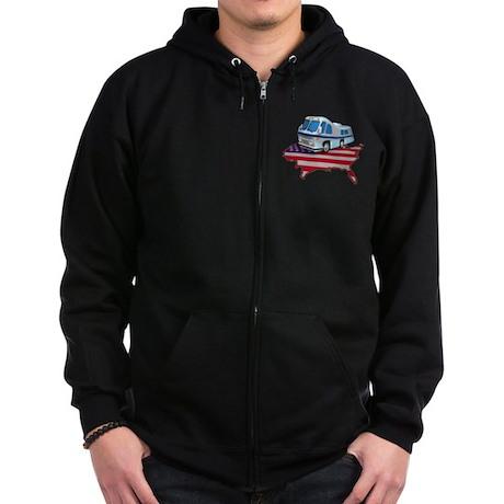 American RV Zip Hoodie (dark)
