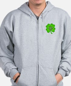 Oma is My Lucky Charm Zip Hoodie