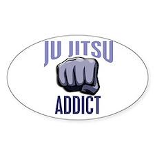 Ju Jitsu Addict Oval Decal