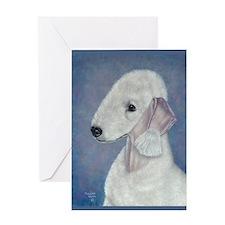 Bedlington (Blue) Greeting Card