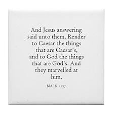 MARK  12:17 Tile Coaster