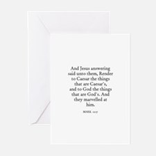 MARK  12:17 Greeting Cards (Pk of 10)
