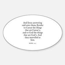 MARK 12:17 Oval Decal