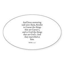 MARK 12:17 Oval Stickers
