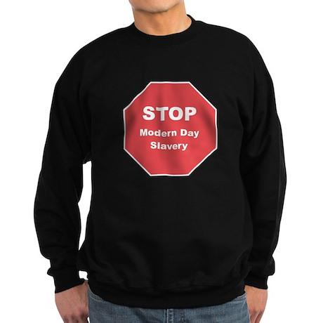 STOP Modern Day Slavery Sweatshirt (dark)