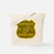 Mountain Biker Drinking League Tote Bag