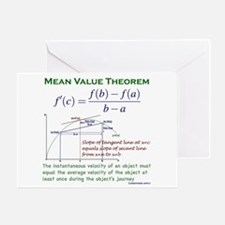 Mean Value Theorem Greeting Card