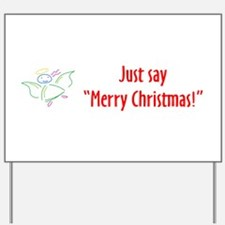 Unique It%27s ok to say merry christmas Yard Sign