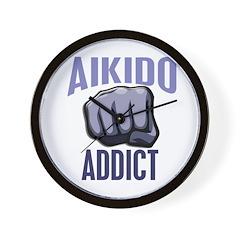 Aikido Addict Wall Clock