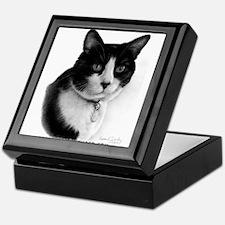 Tuxedo Cat Keepsake Box