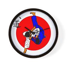 Judo Glory Wall Clock