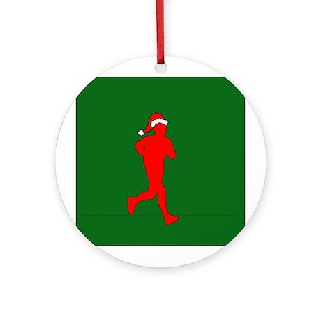Christmas Runner Ornament (Round)