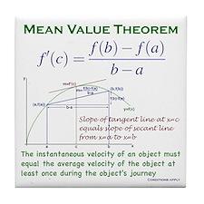 Mean Value Theorem Tile Coaster