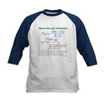 Mean Value Theorem Kids Baseball Jersey