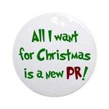 Round Ornament- All I want for Christmas...