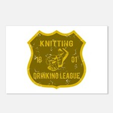Knitting Drinking League Postcards (Package of 8)