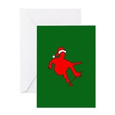 Christmas Skateboarder Greeting Card