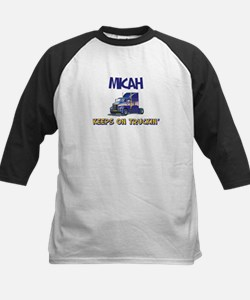 Micahdozer the Bulldozer Kids Baseball Jersey