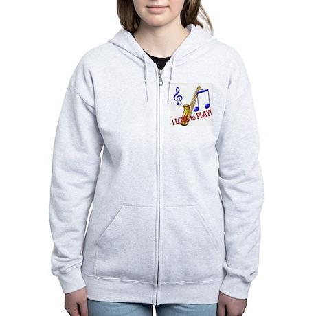 Saxaphone Women's Zip Hoodie