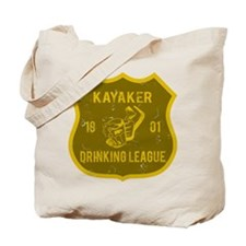 Kayaker Drinking League Tote Bag