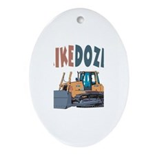 Mikedozer the Bulldozer Oval Ornament