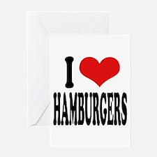 I Love Hamburgers (word) Greeting Card