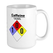 Large Caffeine Chemical Hazard and MSDS Mug