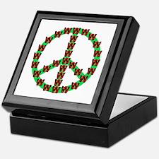 Peace without Dubya Bush Keepsake Box