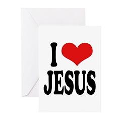 I Love Jesus Greeting Cards (Pk of 20)