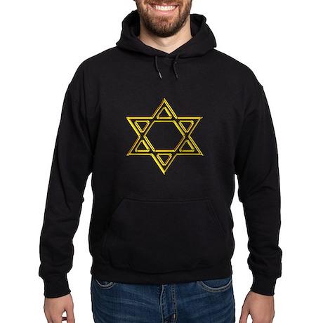 Gold Star of David Hoodie (dark)