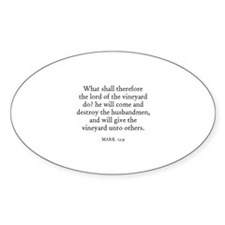 MARK 12:9 Oval Decal