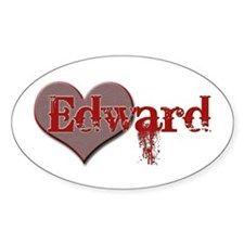 I Heart Twilight Movie Oval Decal