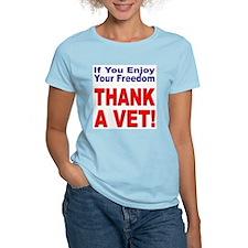 Thank a Veteran (Front) Women's Pink T-Shirt