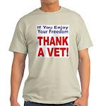 Thank a Veteran (Front) Ash Grey T-Shirt