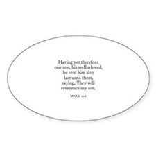 MARK 12:6 Oval Decal