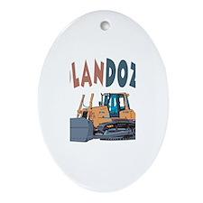 Nolandozer the Bulldozer Oval Ornament